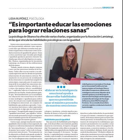 LA EDUCACIÓN EN EMOCIONES ES FUNDAMENTAL PARA LOGRAR RELACIONES SANAS